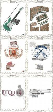 free vector Classic europeanstyle nostalgia posters 11 vector