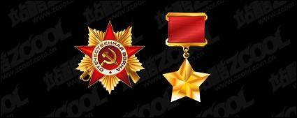free vector Russian gold medal