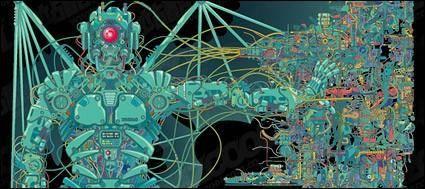 free vector Robot vector material