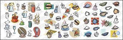 free vector Hand-painted food and drink vector material