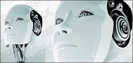 Vector material female robot