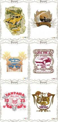 free vector Classic europeanstyle nostalgia posters 13 vector