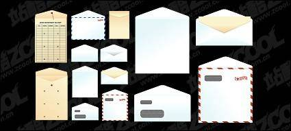 free vector Paper bags, envelopes, vector material