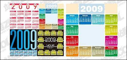 free vector 4 of the 2009 calendar year vector material