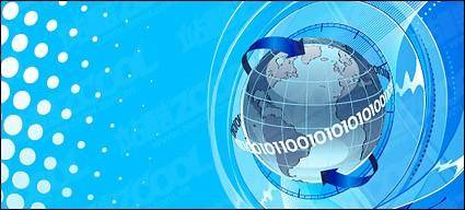 free vector Earth science and technology theme vector illustrations material