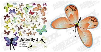 free vector 42 Butterfly vector of the material