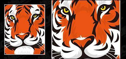 free vector Featured tiger head vector material