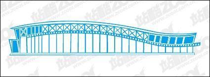 free vector National Stadium vector material