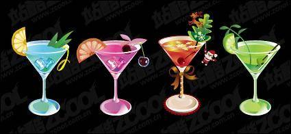 free vector Beautiful summer drinks