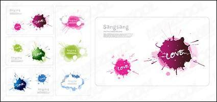 free vector Exquisite color ink card material