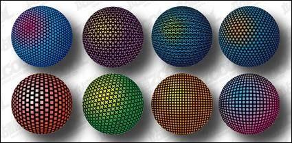 free vector Three-dimensional spherical design material