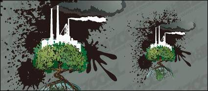 free vector Contaminated material vector illustration of the Earth