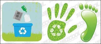 free vector Environmental protection material