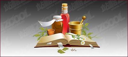 free vector Chinese herbal medicine material