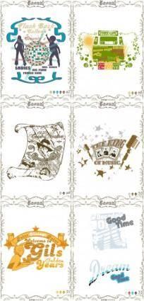 Classic europeanstyle nostalgia posters 04 vector