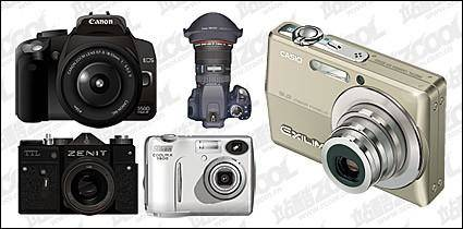 free vector Digital cameras vector material