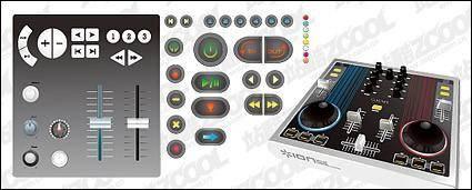 free vector DJ mixing Taiwan vector material
