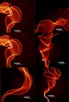 free vector Dynamic fire lines vector