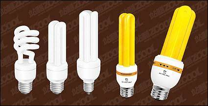 free vector Yellow and white energy-saving lamps vector