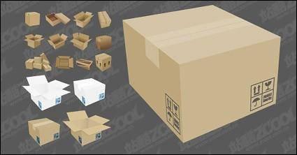 Vector cardboard carton material