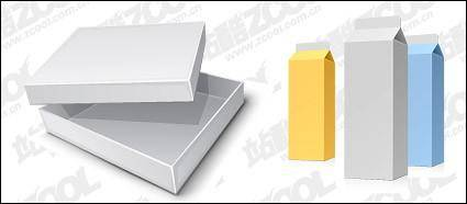 free vector Beverage cartons and boxes blank vector material