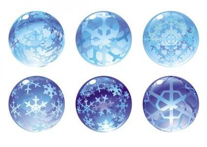 free vector Carved snow globe vector