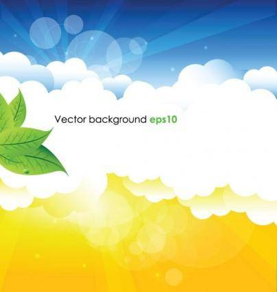 Summer background vector 1