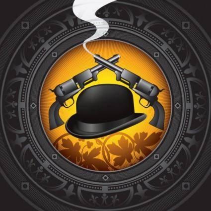 Gentleman hat background 03 vector