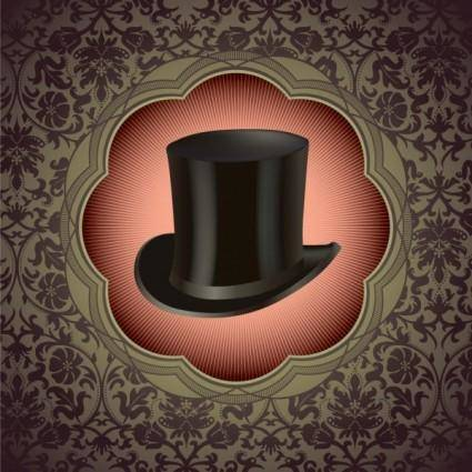 Gentleman hat background 01 vector
