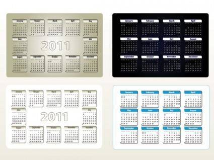 Beautiful 2011 calendar template 05 vector