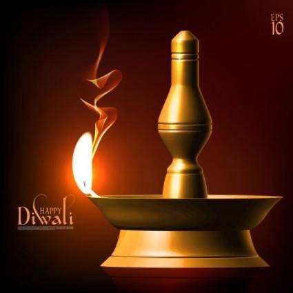 free vector Exquisite diwali background 09 vector