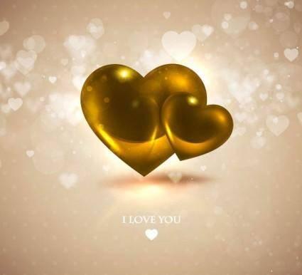 free vector Romantic heartshaped background 06 vector