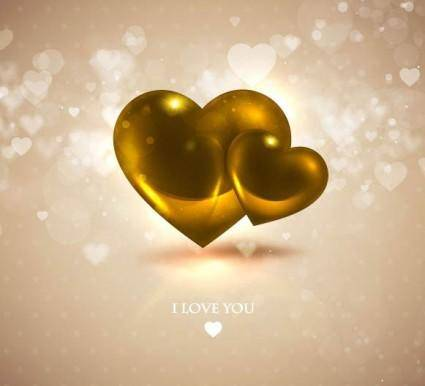 Romantic heartshaped background 06 vector