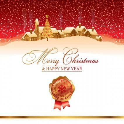 The cartoon christmas house background 04 vector