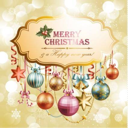 Christmas elements background 04 vector