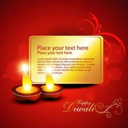 Diwali beautiful background 02 vector