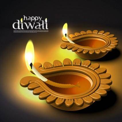 free vector Diwali beautiful background 03 vector