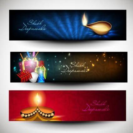 free vector Beautifully diwali background 06 vector