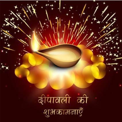 Exquisite diwali background 07 vector