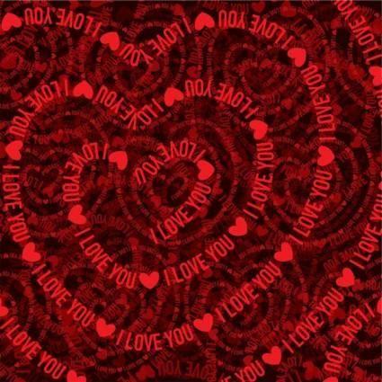 Valentine hearts background 01 vector