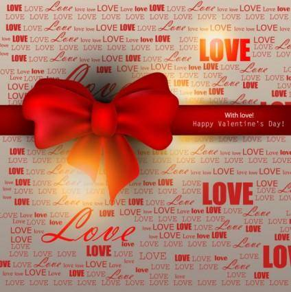 free vector The exquisite valentine background vector