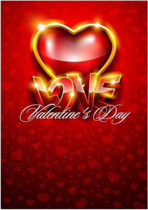 Fancy valentine background 05 vector