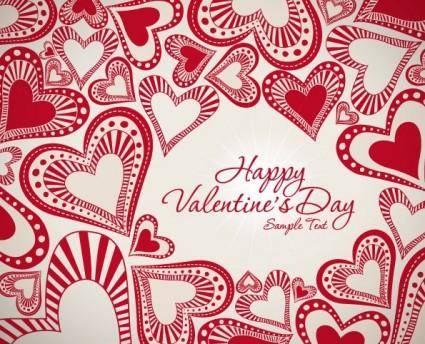 Valentine background 04 vector 14935