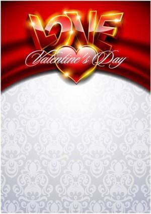 Fancy valentine background 03 vector