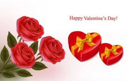Valentine background 04 vector