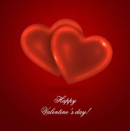 Romantic heartshaped background 01 vector