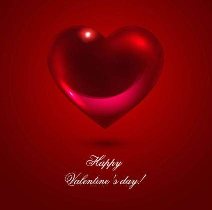 free vector Romantic heartshaped background 02 vector