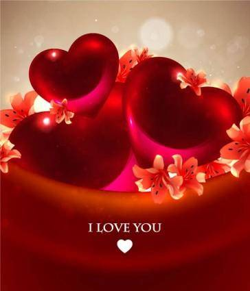 free vector Romantic heartshaped background 04 vector
