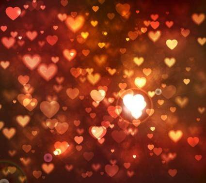 free vector Romantic heartshaped background 05 vector