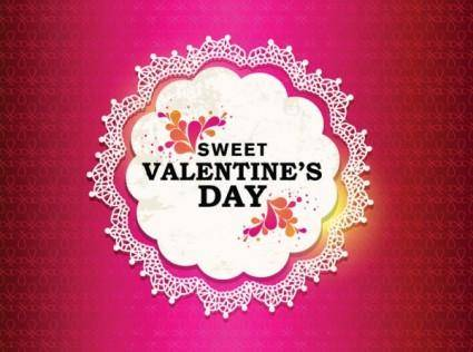 free vector Valentine labels background vector